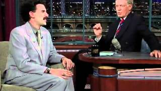 David Letterman - Borat (Full Interview) HD