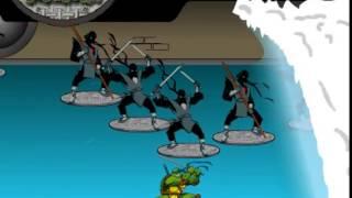 Бесплатные игры онлайн  Черепашки Ниндзя На серфинге, игры для детей