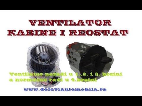 Neispravnost Ventilatora Kabine I Reostat Ventilatora Kabine