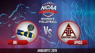 NCAA 94 Women's Volleyball: JRU vs. UPHSD | January 17, 2019