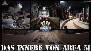 Das Innere von Area 51/ Bermuda Dreieck - Movie Park Germany - Backstage Reportage