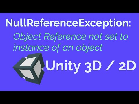 Nullreferenceexception Object Reference Not Set To An Instance Of An Object Unity 3d 2d Youtube