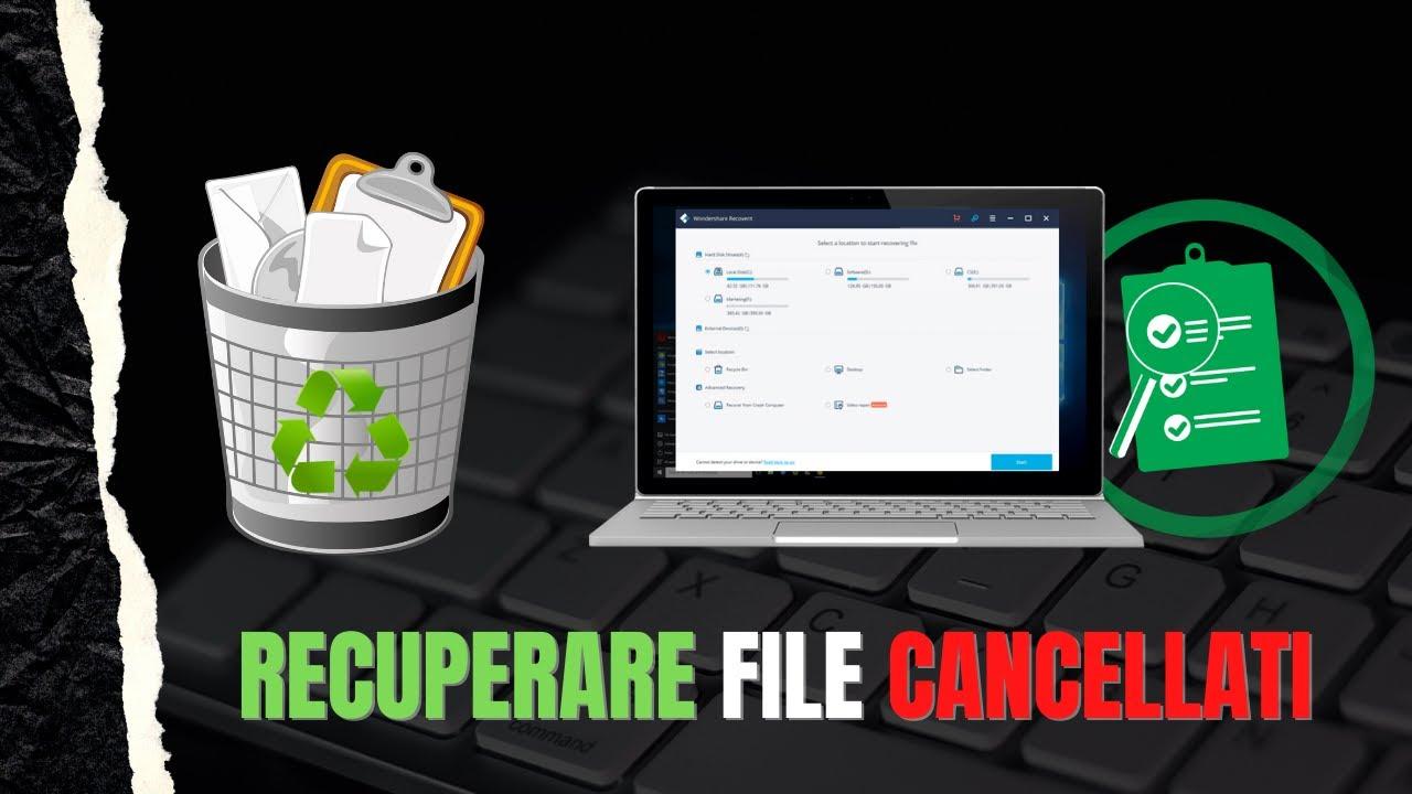 Come RECUPERARE FILE CANCELLATI Gratis dal PC con RECOVERIT (ITA 4K)
