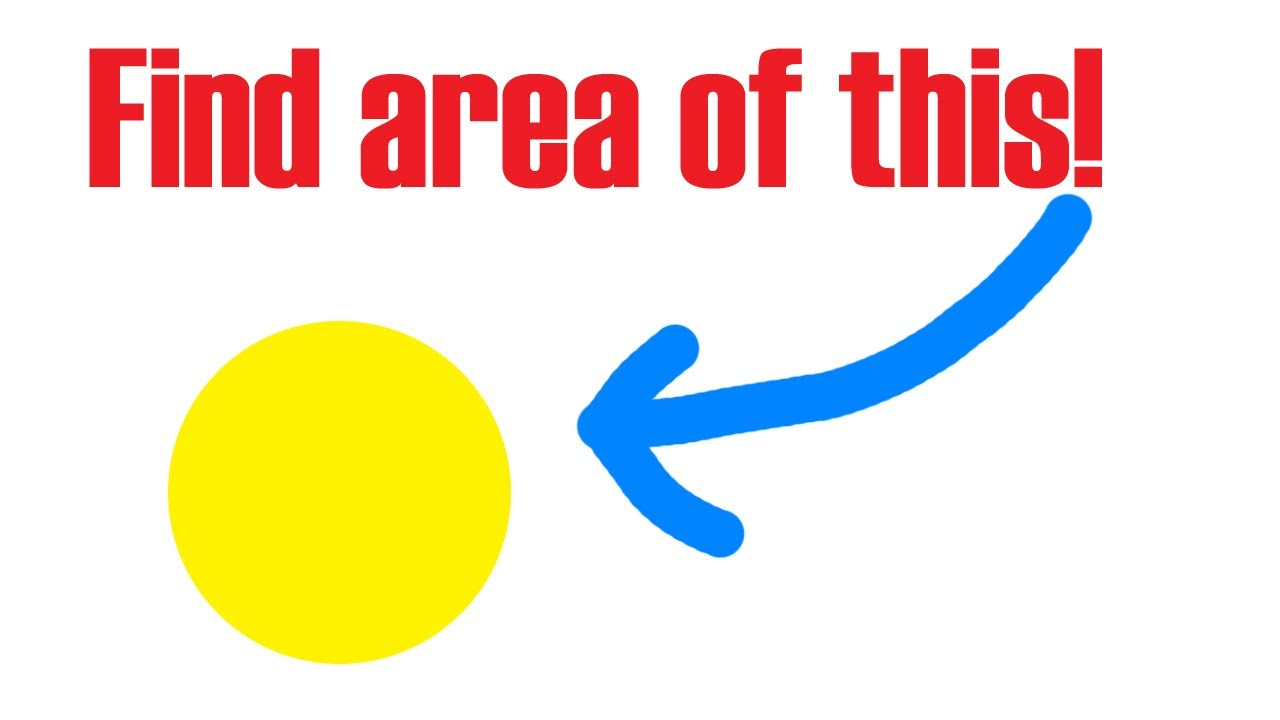 How To Find The Area Of A Circle (**easy Peasy**)
