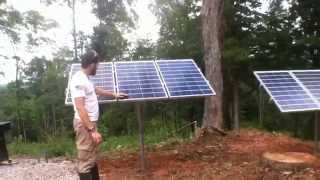 Ground Mount Solar Install And Wind Turbine Mount On Barn By Off Grid Contracting