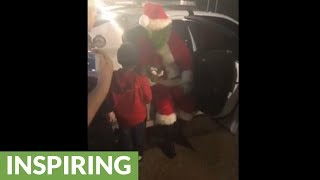 After Calling 911 On The Grinch For Stealing Christmas, This Little Boy Gets To Lock Him Up!