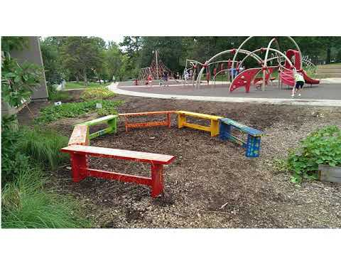 School Garden Design Ideas - YouTube