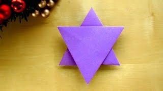 Weihnachten basteln: Origami Sterne basteln mit Papier - DIY Weihnachtssterne