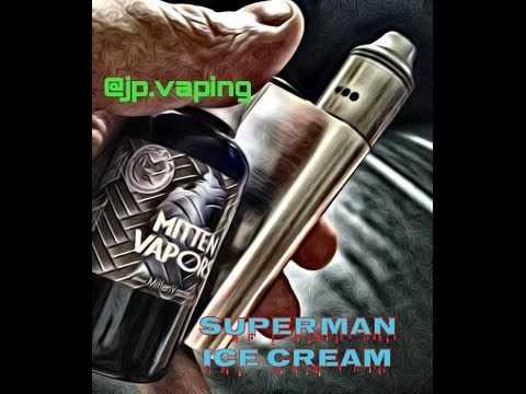 Superman Ice Cream - Mitten Vapors - E-Juice review - JP Vaping