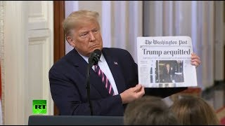 Trump gives a statement after his impeachment acquittal [STREAMED LIVE]