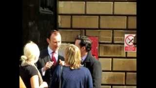 Mark Gatiss & Andrew Scott on the set of Sherlock Series 3 - 14/04/2013