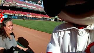 Mr.Redlegs at The Great American Ballpark