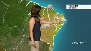 Previsão Nordeste – Chuva frequente na costa norte