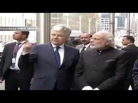 PM Shri Narendra Modi lays a wreath at Maalbeek Metro Station in Brussels, Belgium