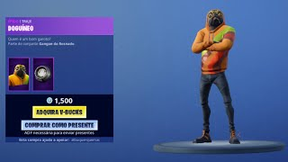 NEW SKIN DOGUDINOFORTNITE! NEW SHOP FORTNITE TODAY 25/05. NEW ITEMS FROM THE FORTNITE STORE! NEW SKIN!