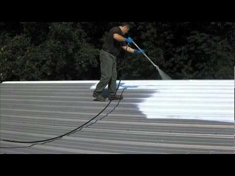 Spray Application Of Epox Z Nrg Cool Roof Coating Youtube