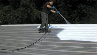 Spray Application of EPOX-Z NRG Cool Roof Coating