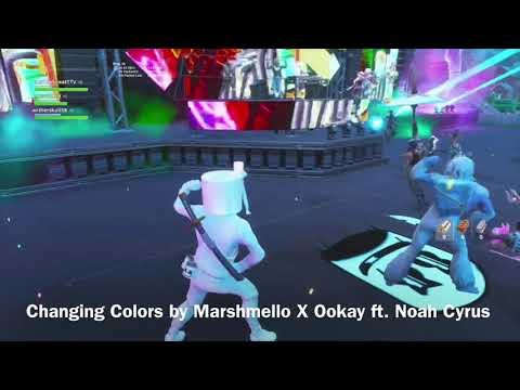 Marshmello X Fortnite Concert! W/ Song Names!