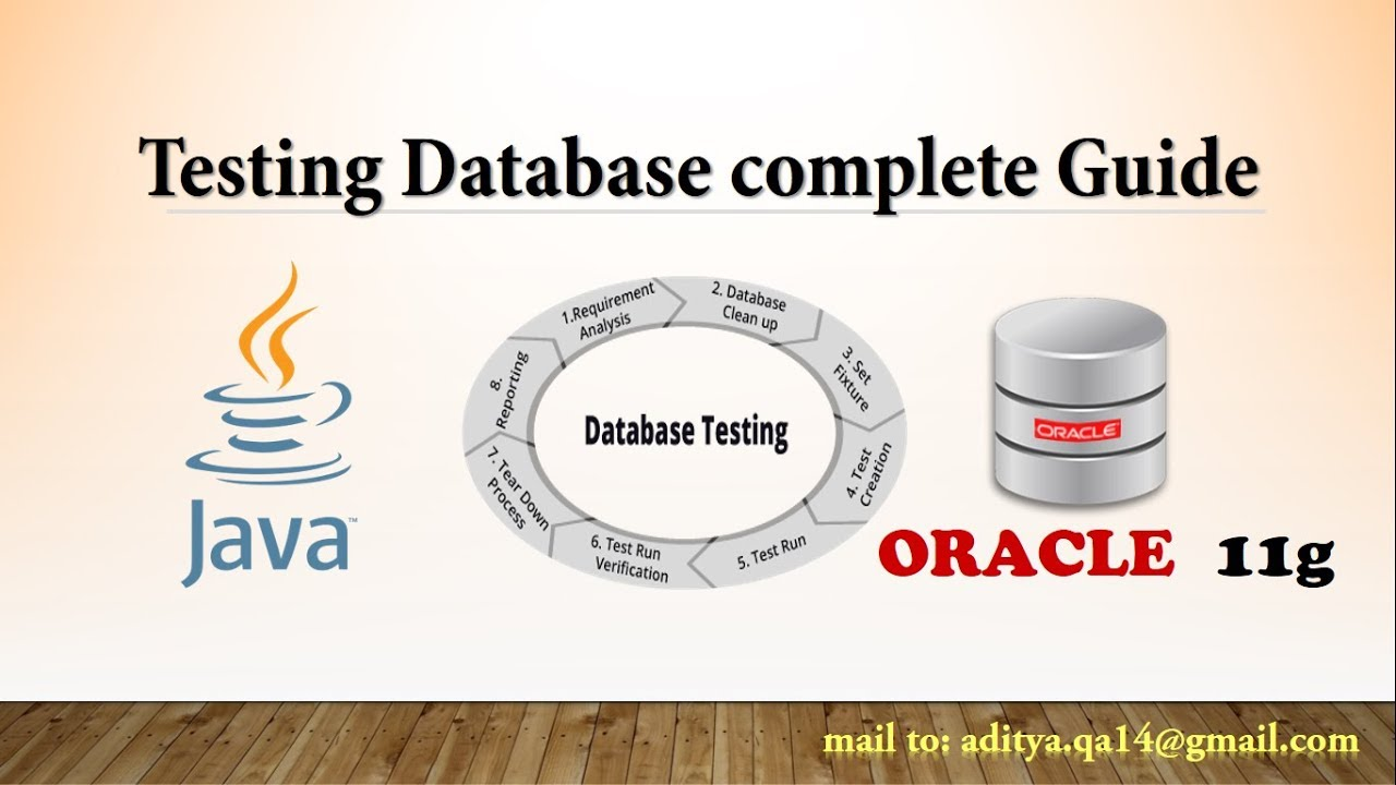Database Testing Complete tutorial with Java
