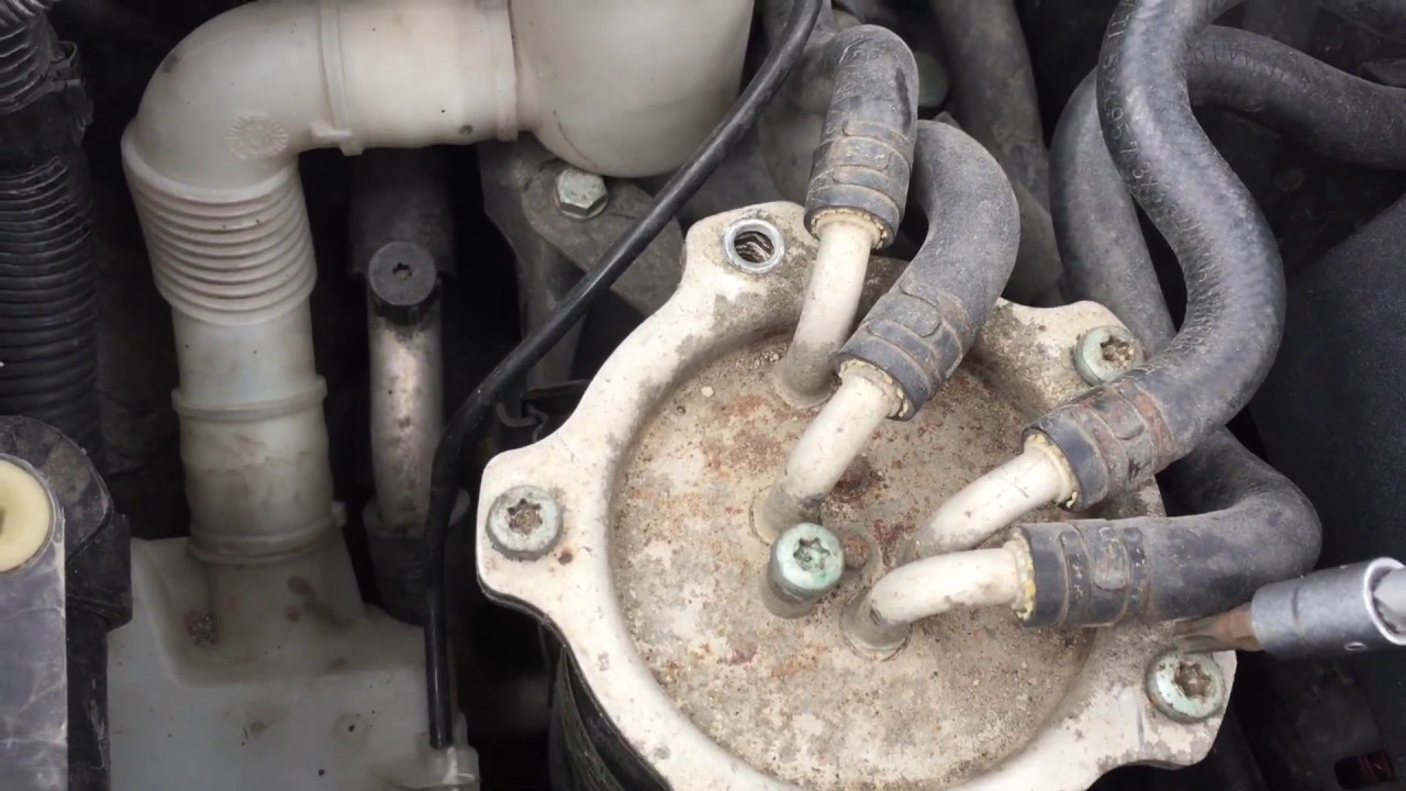 How to Change fuel filter on 2.0TDI AZV/BKD - YouTubeYouTube