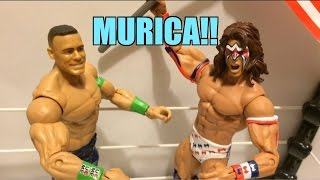 WWE ACTION INSIDER: John Cena Vs Ultimate Warrior Mattel Battle Pack Wrestling Figures Review! BP31