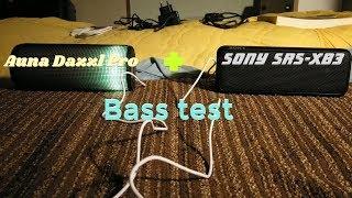 Sony srs-xb3 + Auna Dazzl Pro - Bass test 🔊
