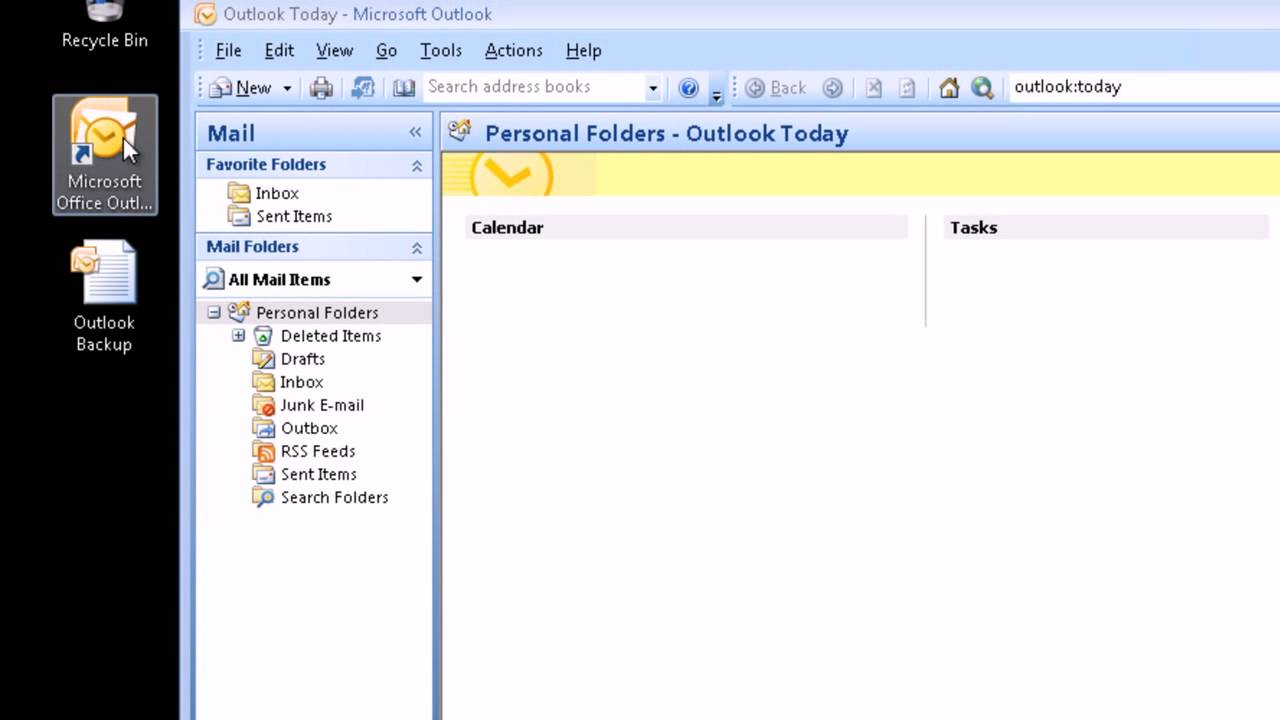 how to create pst in outlook 2007