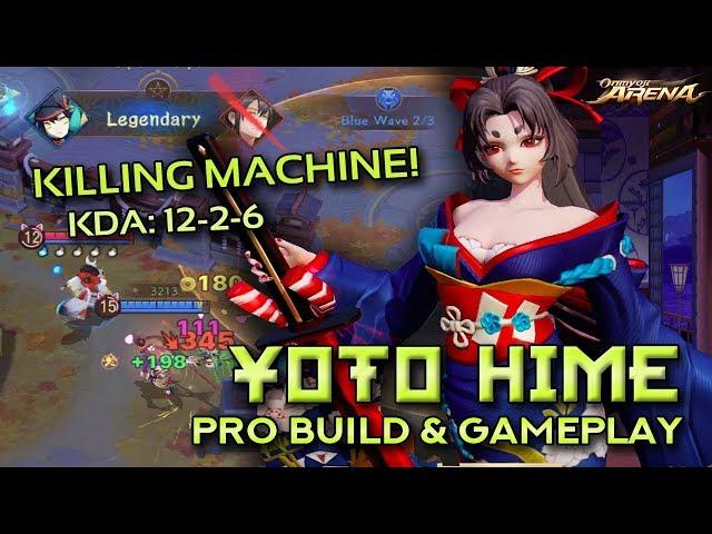 YOTO HIME PRO BUILD & TOP LANE GAMEPLAY – Master Proficiency   Onmyoji Arena
