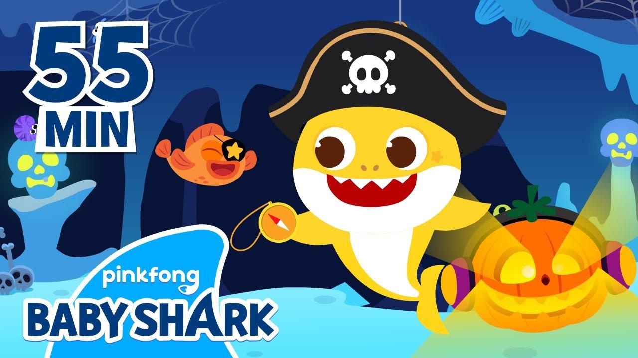 🎃Halloween Pirate Baby Shark!   +Compilation   Baby Shark Halloween   Baby Shark Official