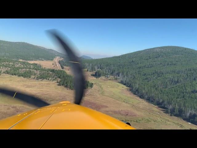 Backcountry Flight into Cold Meadows , Idaho U81