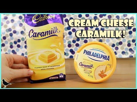 Cadbury Caramilk Inspired Philadelphia Flavoured Cream Cheese Food Tasting Review | Birdew Reviews