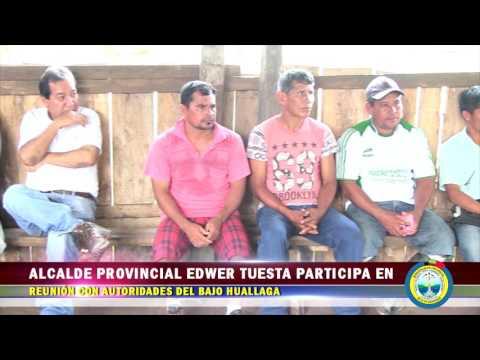 ALCALDE PROVINCIAL EDWER TUESTA PARTICIPA EN REUNIÓN CON AUTORIDADES DEL BAJO HUALLAGA