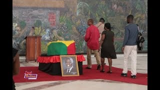 Watch as hundreds of people pay last respects to Kofi Annan