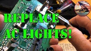 '05 Chrysler 300: Fixing / Replacing AC Control Module Backlights (Redux)