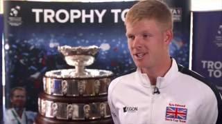 Kyle Edmund Davis Cup Trophy Tour