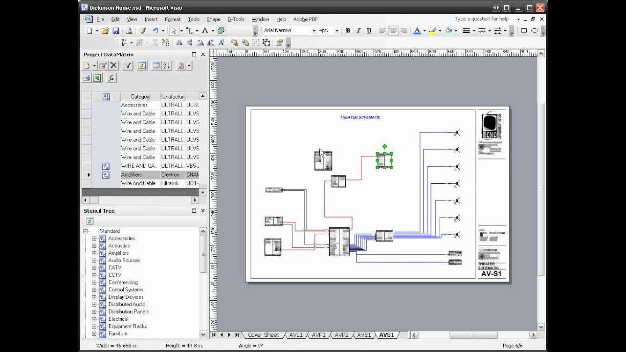 D-Tools SI 5 - Visio Schematic Diagram on