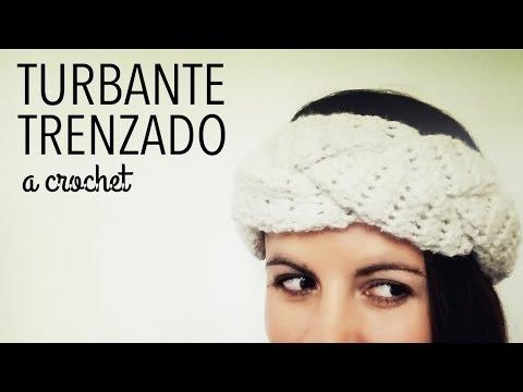 Turbante / Banda / Vincha en TRENZA a Crochet - Paso a Paso - YouTube