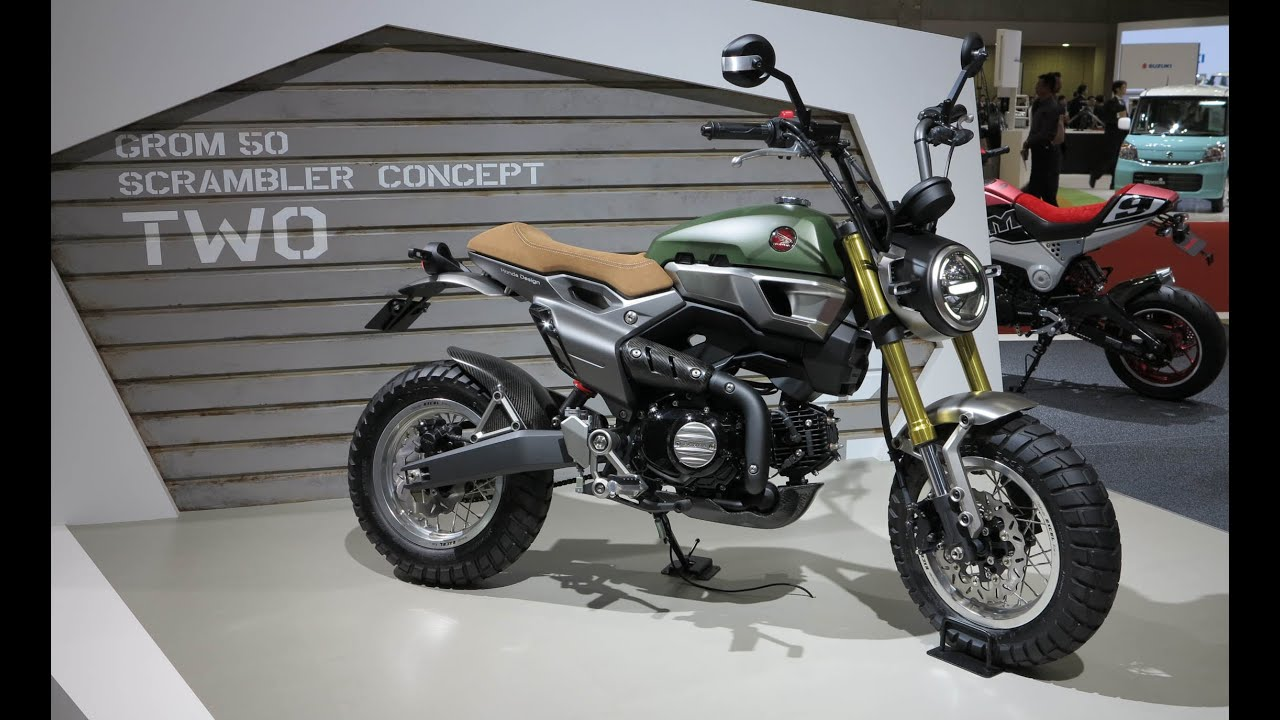 honda grom 50 scrambler concept two 2015 tokyo motor. Black Bedroom Furniture Sets. Home Design Ideas