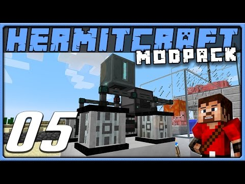Minecraft 1.10 Modded | HermitPack || Ep 05 - Bacon Power Generator Array!