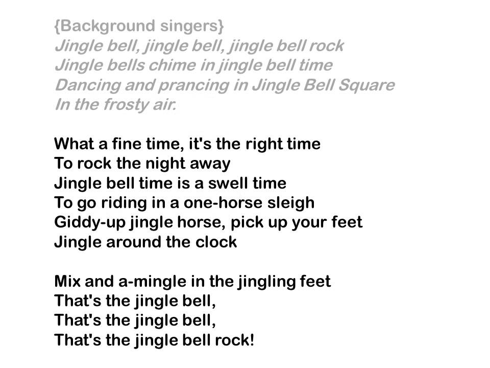 jingle bell rock with words