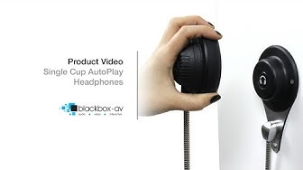 Auto Play Single Cup Headphones Product Demo