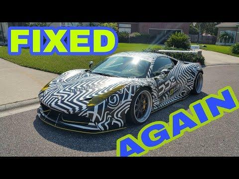 Former DDE Ferrari 458 GT bumper repair after accident