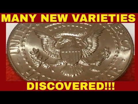NEW HALF DOLLAR VARIETIES FOUND ON KENNEDY HALF DOLLARS!! VARIETIES TO LOOK FOR!