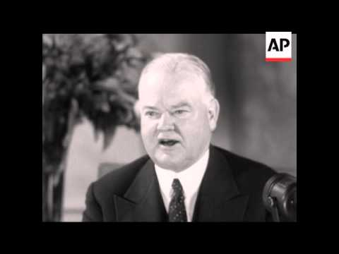 PRESIDENT HOOVER INTERVIEW - SOUND