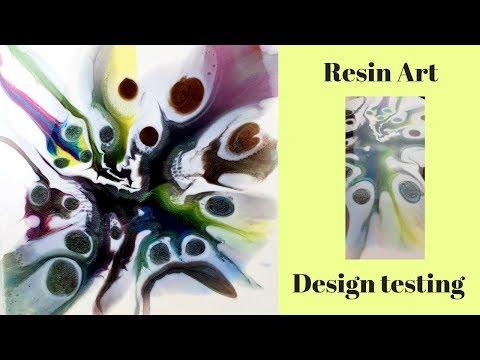 Resin Art design testing.