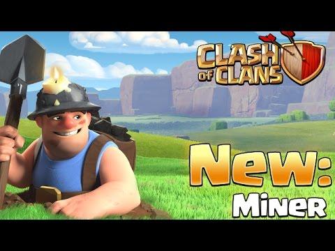 MINER = NEW TROOP in Clash Of Clans [UPDATE GAMEPLAY for SNEAK PEEK 5]
