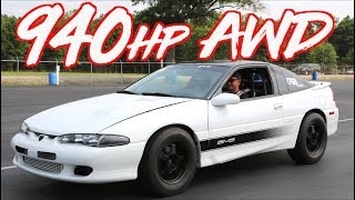 940HP AWD Eagle Talon on 50psi! - Ride Along Amazing Acceleration