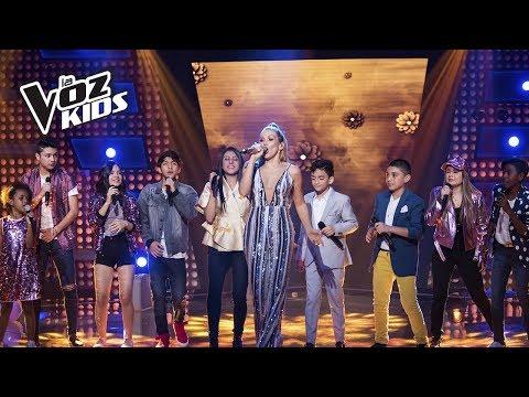 El Equipo Fanny canta No Te Pido Que Traigas Flores   La Voz Kids Colombia 2018