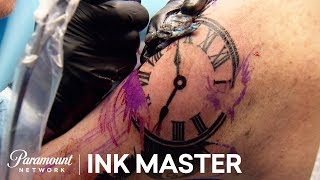 'Clock Tattoo Challenge' Elimination Official Highlight | Ink Master: Grudge Match (Season 11)