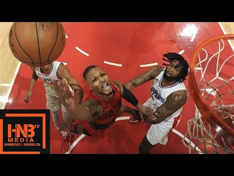 LA Clippers vs Portland Trail Blazers 1st Half Highlights / March 18 / 2017-18 NBA Season